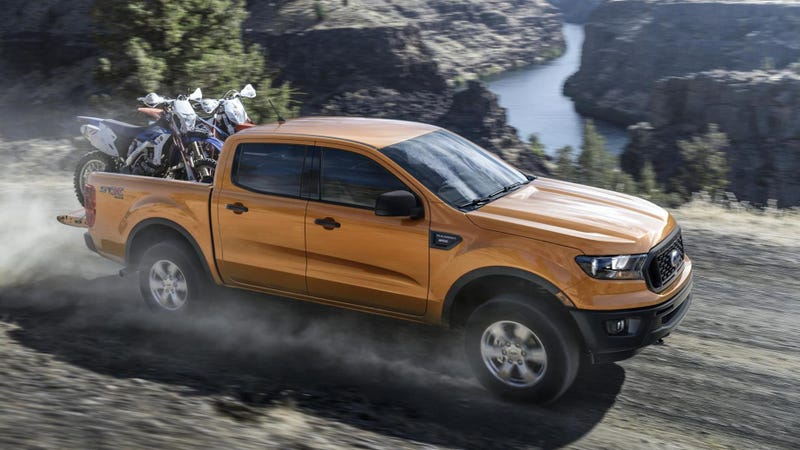 Illustration for article titled The 2019 Ford Ranger Claims to Beat the V6 Trucks on Torque With a Turbo Four