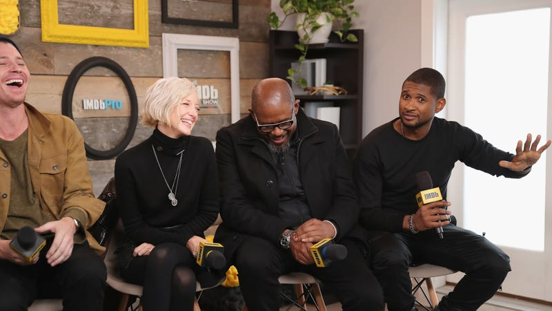 Actors Garrett Hedlund, Andrea Riseborough, Forest Whitaker, and Usher Raymond of 'Burden' attend The IMDb Studio and The IMDb Show on Location at The Sundance Film Festival on January 21, 2018 in Park City, Utah.