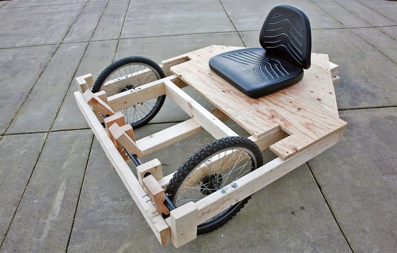 Cómo construir un Go-Kart con motor de taladro barato (ish)