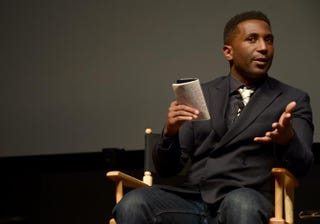 Journalist Wesley Morris moderates a Special Tribeca Talks: Tribeca/ESPN Sports Film Festival Conversations: Shooting and Scoring during the 2014 Tribeca Film Festival at the SVA Theater April 25, 2014, in New York City. Michael Loccisano/Getty Images