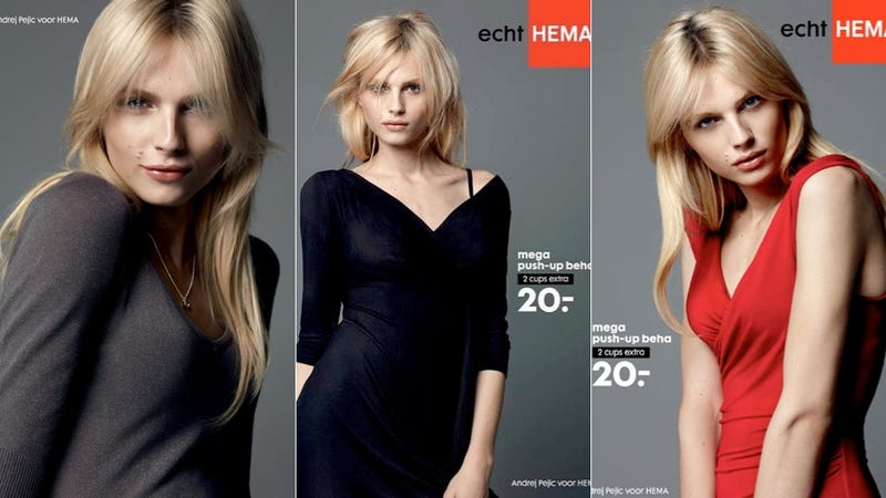 Illustration for article titled Noted Androgynous Male Model Andrej Pejic Cast In New Push-Up Bra Ads