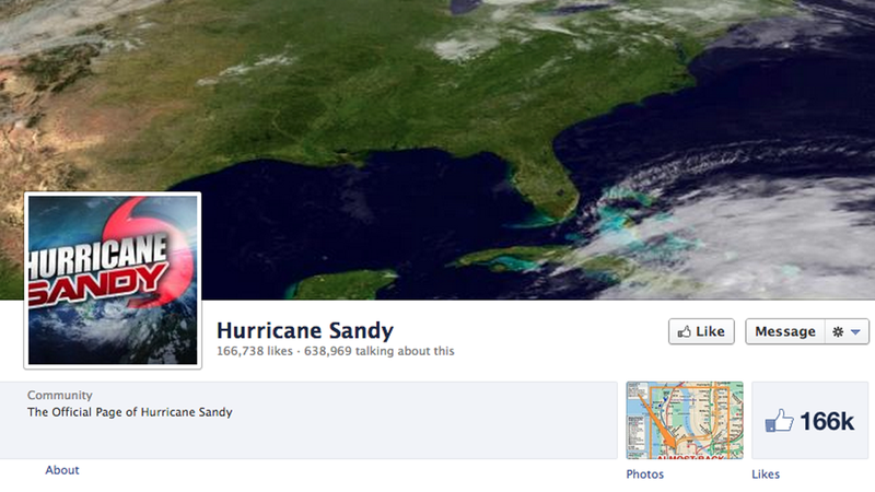 Illustration for article titled Like Hurricane Sandy on Facebook for Official News, You Weirdo Masochist