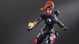 Illustration for article titled Play Arts Kai's Black Widow Is Here To Kick Ass And Have Fabulous Hair