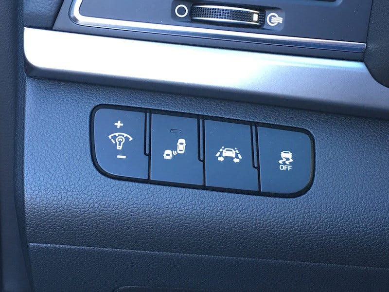 Actually this is from an Elantra, but the button layout is the same...
