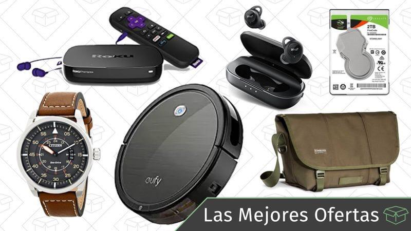 Illustration for article titled Las mejores ofertas de este lunes: Auriculares inalámbricos, Rokus de segunda mano, aspiradoras robóticas y más