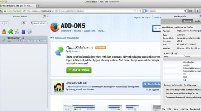 Illustration for article titled OmniSidebar Makes Firefox Sidebar Hacks Easier Than Ever