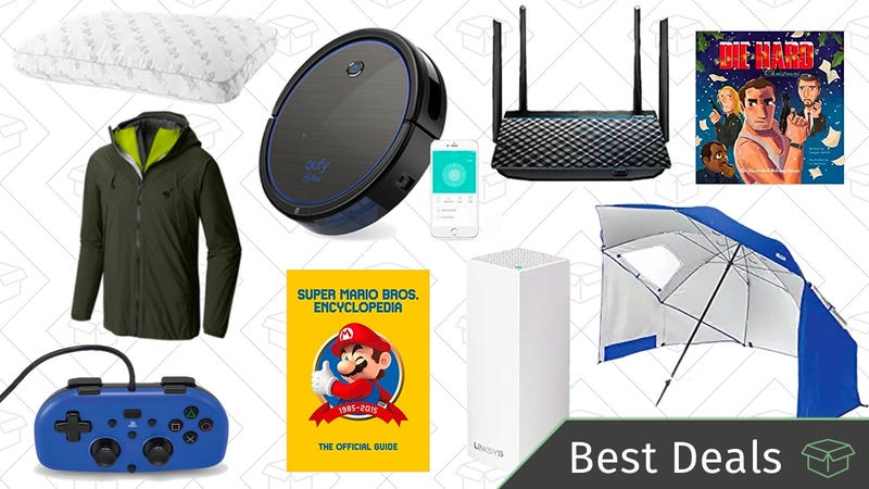 Illustration for article titled Thursday's Best Deals: Networking and Storage Sale, Robotic Vacuum, Reader-Favorite Pillow