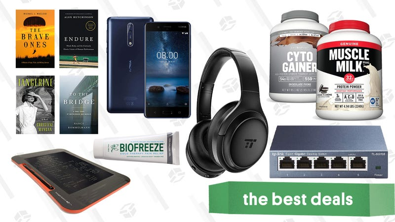 Illustration for article titled Sunday's Best Deals: Noise-Cancelling Headphones, Muscle Milk, Kindle eBooks, and More