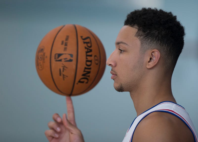 Ben Simmons of the Philadelphia 76ers spins a basketball on his finger during media day Sept. 26, 2016, in Camden, N.J. Mitchell Leff/Getty Images
