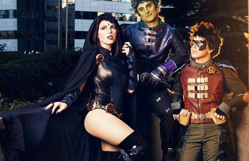Raven teen titans adult costume