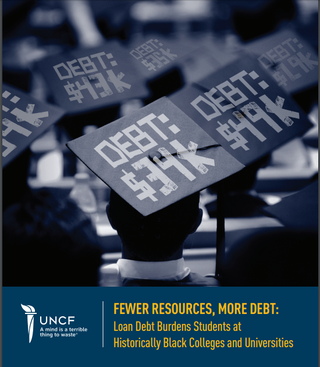 """""""Fewer Resources, More Debt: Loan Debt Burdens Students at Historically Black Colleges and Universities,"""" a report by the United Negro College FundUnited Negro College Fund Screenshot"""
