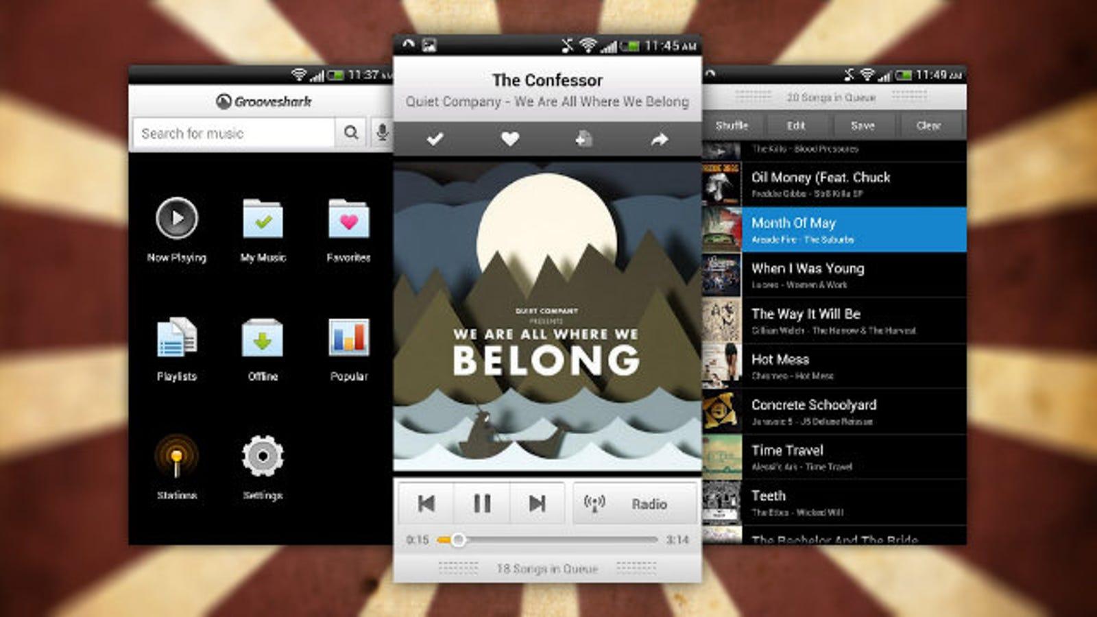 Grooveshark app android free