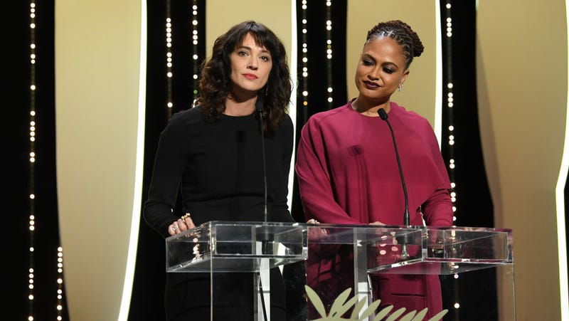 Asia Argento and jury member Ava DuVernay at Cannes Film Festival