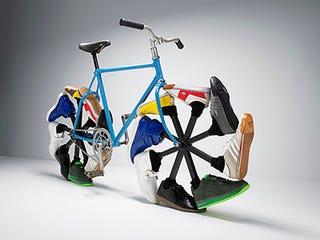 Illustration for article titled Walking Bike, Perfect Use For Old Keds, Jordans