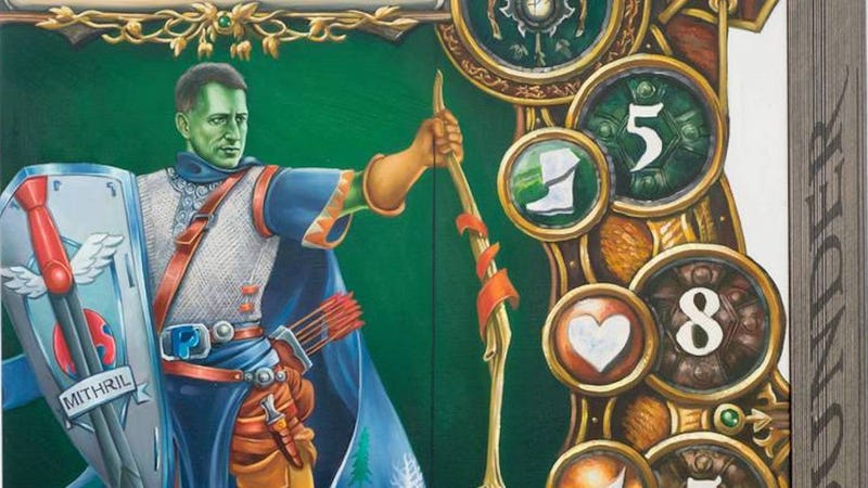Peter Thiel, cast as Lord Tybalt in a riff on the board game Descent. Image: Simon Denny