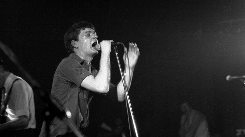 Ian Curtis, not on a roller coaster. (Photo: Chris Mills/Getty)