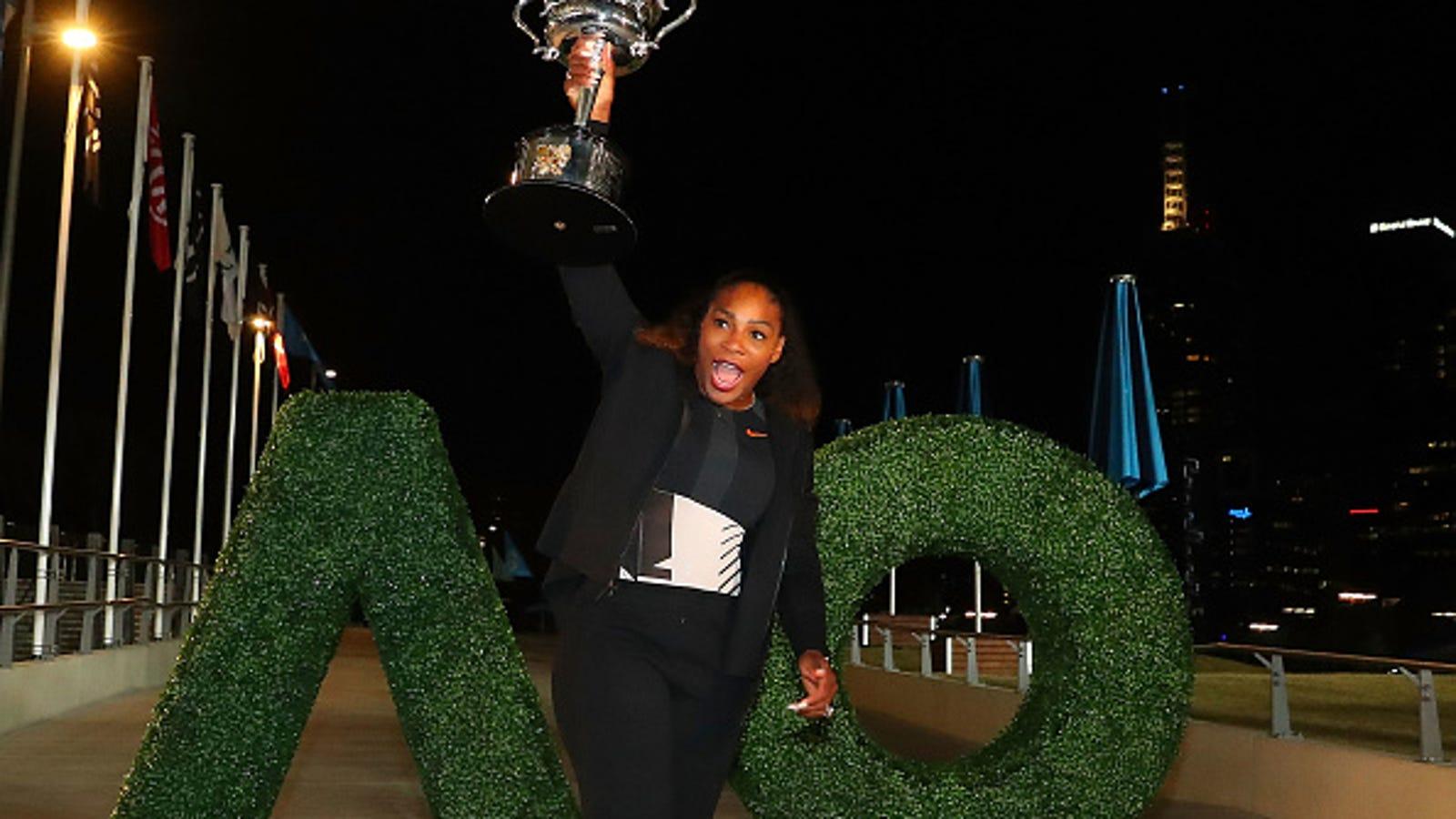 ef4a24d12b0 Serena Williams Rocks No. 23 Jordans—Sent by Michael Jordan—to Celebrate  Her 23rd Grand-Slam Win