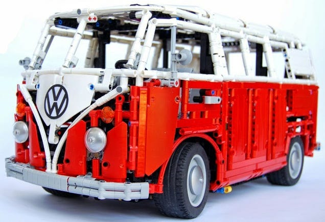 this lego vw type 2 t1 bus is absolutely incredible. Black Bedroom Furniture Sets. Home Design Ideas