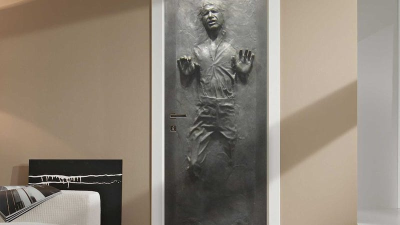 Turn any door into han solo stuck in carbonite - Stickers porte capitonne ...