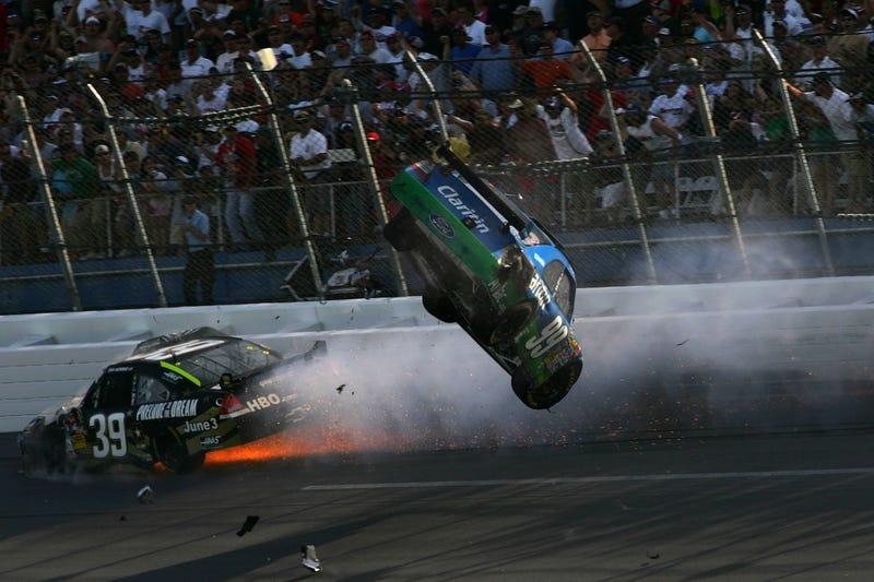 Carl Edwards Real-Life Talladega Nights NASCAR Crash ...