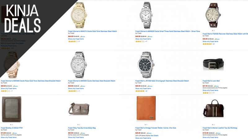 Illustration for article titled Today Only: Great Prices on Fossil Watches, Wallets, and More