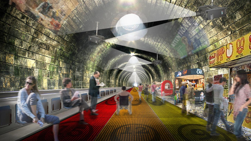 Illustration for article titled Replacing Subway Lines With High-Speed Moving Sidewalks Sounds Terrifying