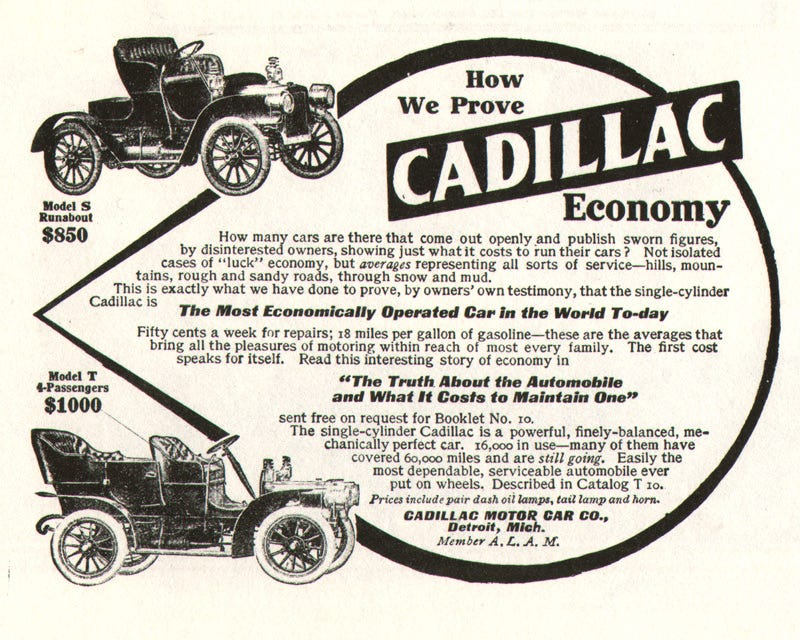 Illustration for article titled Did you know Cadillac started out as an economy car company?
