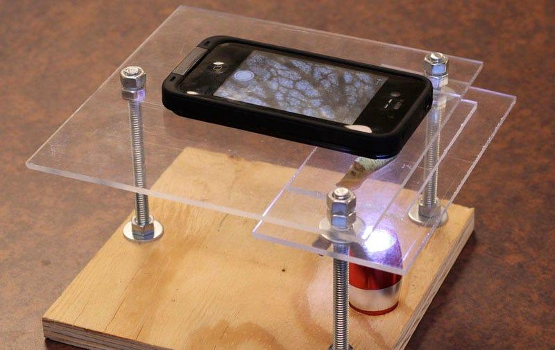 c6ebb8b1b7d Illustration for article titled Cómo hacer un microscopio para iPhone con  LED y un puntero láser