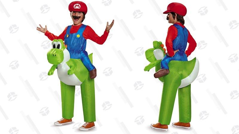 Mario Riding Yoshi Inflatable Costume   $28   Amazon