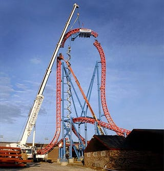 Illustration for article titled New Coaster Doesn't Screw Around, Features 97 Degree Drop