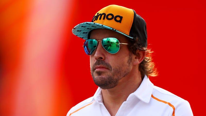 Fernando Alonso at the 2018 Hungarian Grand Prix.