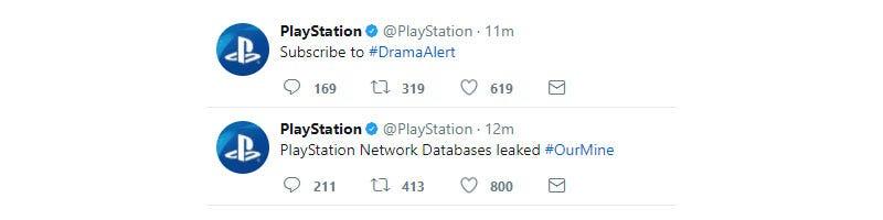 PlayStation Twitter account hacked – Aldi Pradra ICS 382