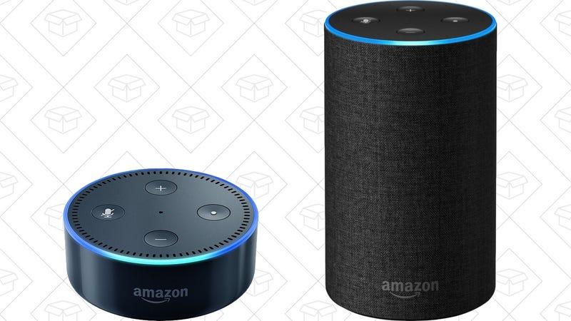 Amazon Echo Dot | $40 | AmazonAmazon Echo | $85 | Amazon