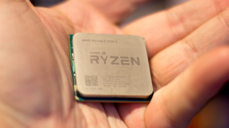 Holding a Ryzen CPU in your hand offers absolutely no benefit.
