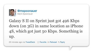 Illustration for article titled What's Going on with the Sprint iPhone 4S's Data Speeds?