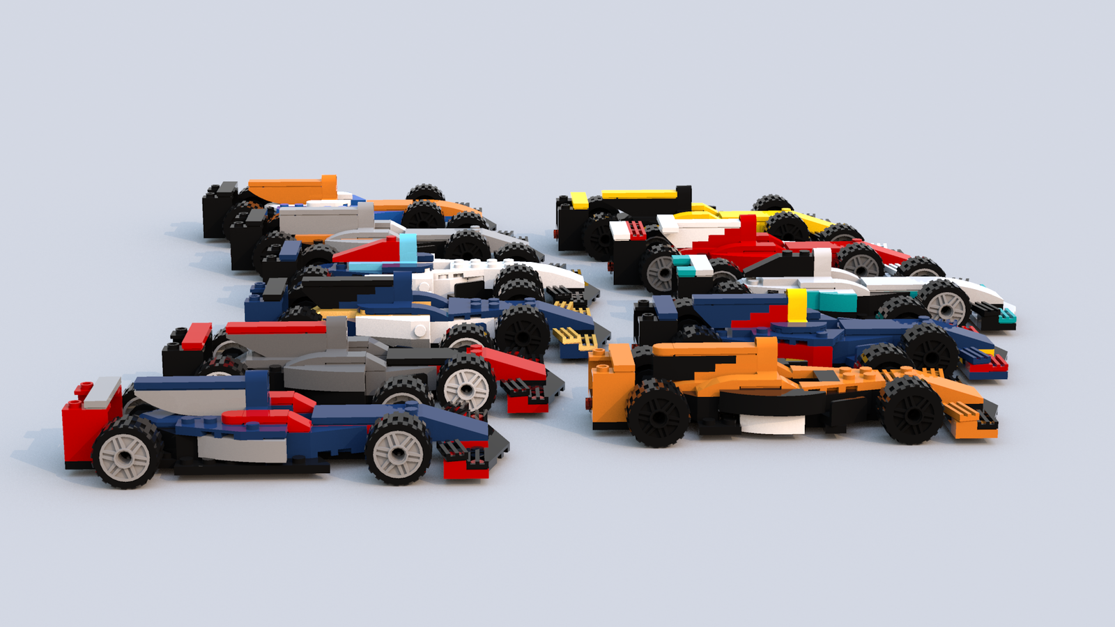 i made the whole 2017 f1 grid in lego. Black Bedroom Furniture Sets. Home Design Ideas