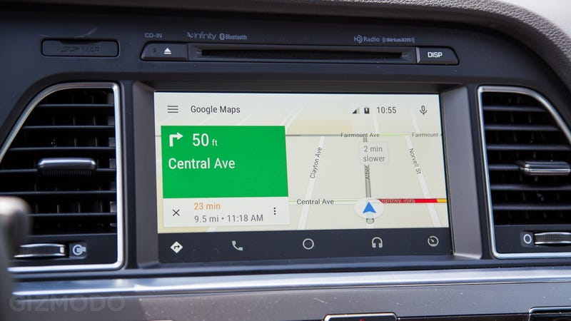 Google Maps Send To Car: Android Auto Preview: It's Not Perfect, But You Want It