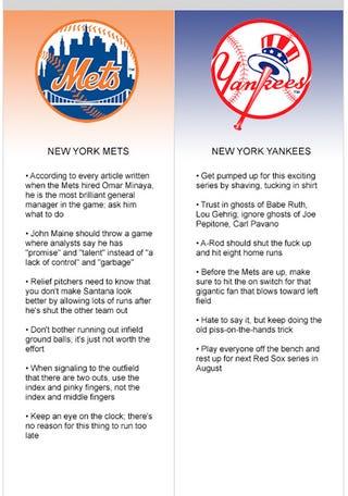 Illustration for article titled Mets vs. Yankees