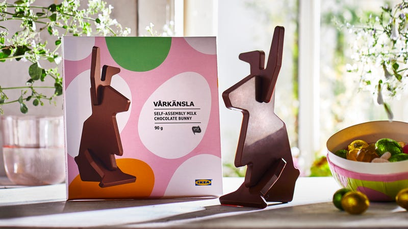 Illustration for article titled IKEA sells a chocolate Easter bunny—assembly required