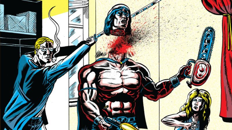 Illustration for article titled Exclusive Fantagraphics preview: Terror Assaulter wages a one-man war on terror (NSFW)