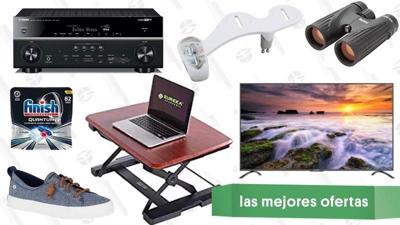 Illustration for article titled Las mejores ofertas de este jueves: Muebles para La Oficina, televisor de 75'', rebajas en Sperry y más