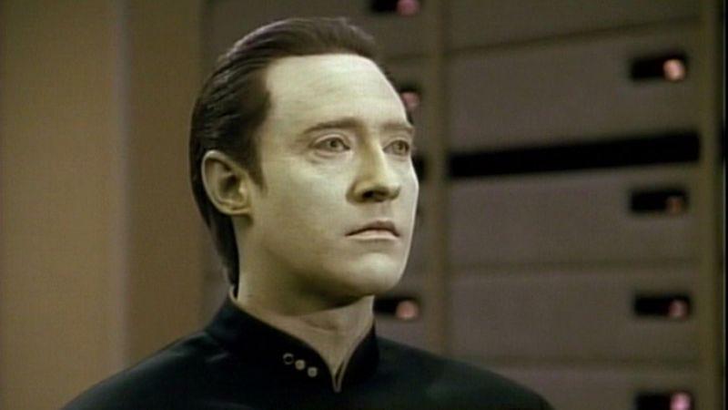 Brent Spiner as Data on Star Trek: The Next Generation