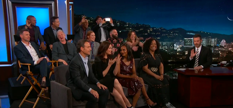 The cast and creator of Scandal, Jimmy Kimmel