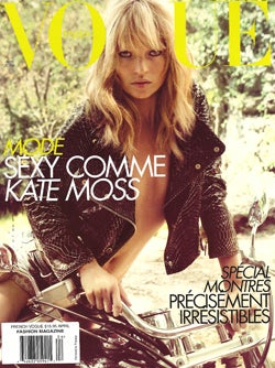 Illustration for article titled Kate Moss In French Vogue: Biker Chic(k)
