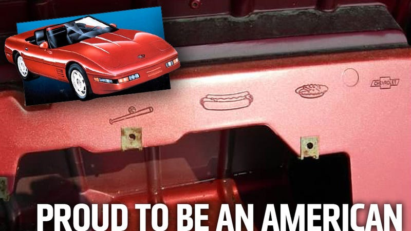 Illustration for article titled Why There's A Baseball Bat, Hot Dog, And Apple Pie In Every 1996 Chevy Corvette Convertible
