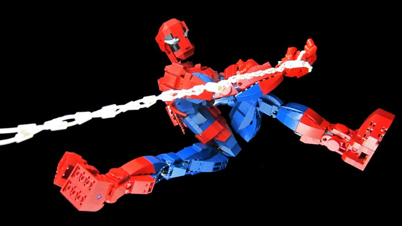 Illustration for article titled Lego Spiderman Action Figure Is Pretty Goddamn Bloody Awesome