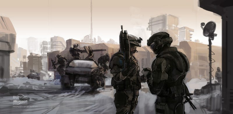 Illustration for article titled The Art Of Halo Is Like A Postcard From The End Of The Universe