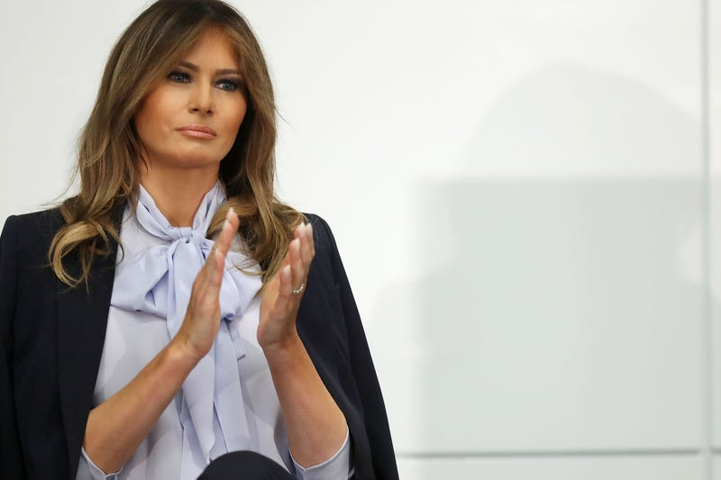 Melania Trump participates in a Federal Partners in Bullying Prevention summit on Aug. 20, 2018 in Rockville, Maryland.