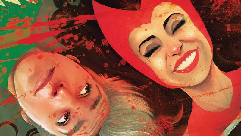 Quicksilver and the Scarlet Witch on the cover of Quicksilver: No Surrender #3.