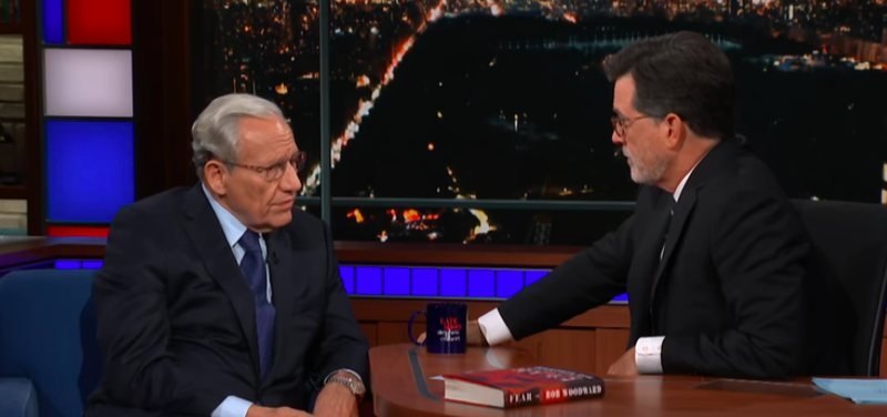 Journalist Bob Woodward doggedly details what we should be afraid of on The Late Show